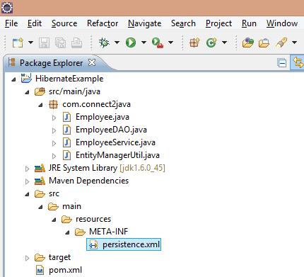 Eclipse-Proj-Structure_Employee_JPA