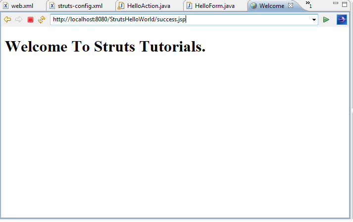 Struts_Helloworld_output
